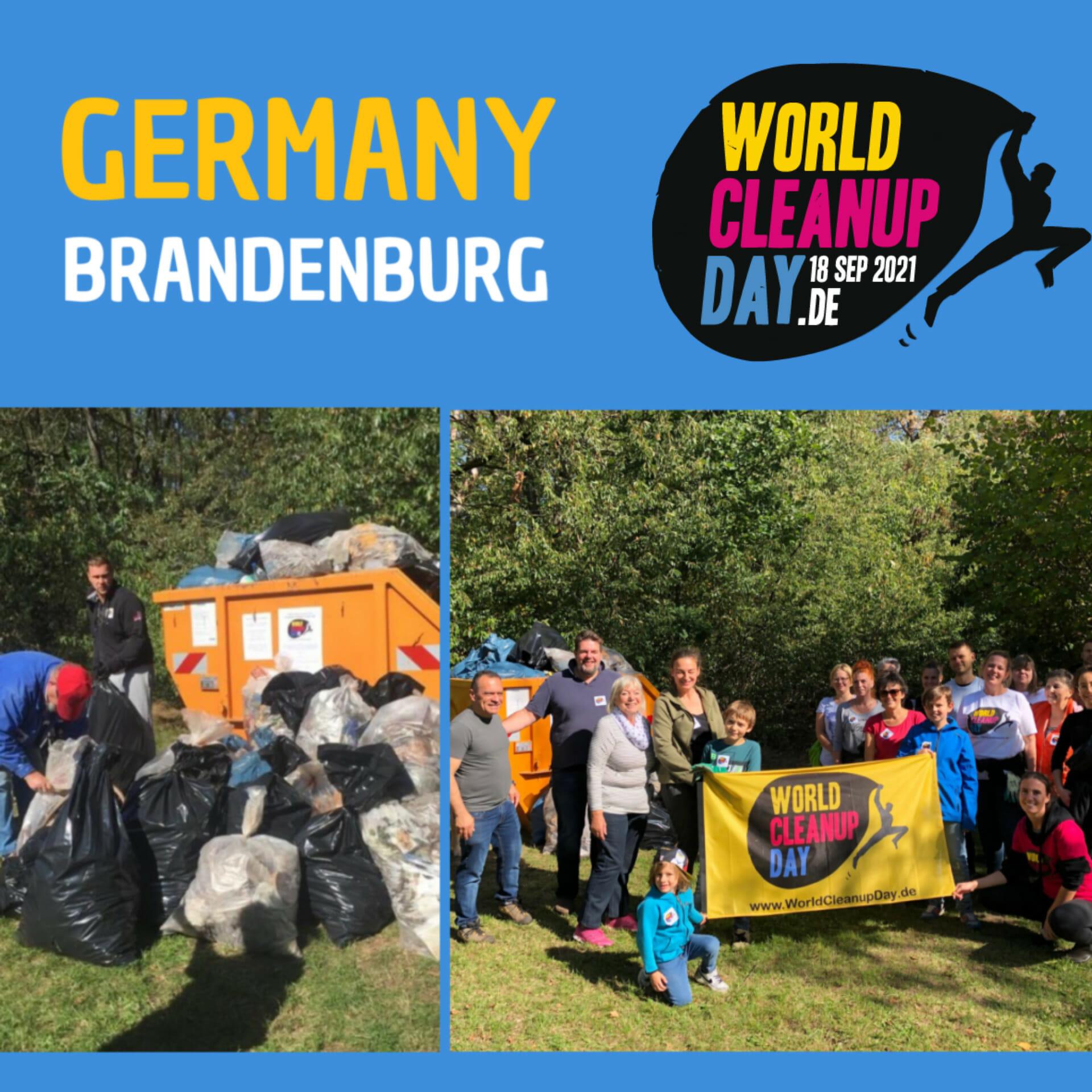 The garbage GANG * Cleanup in Luckenwalde, Zum Freibad (Brandenburg)