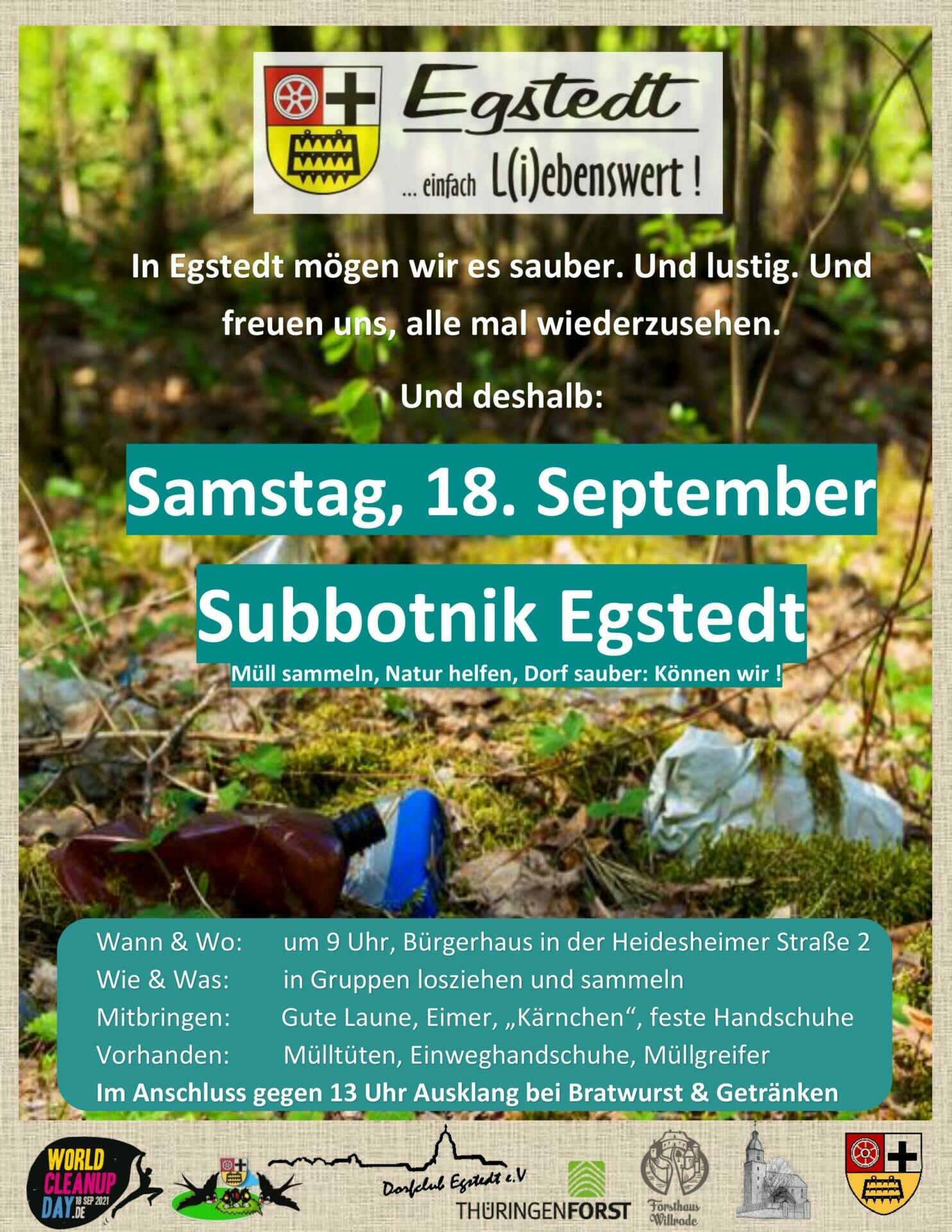 Subbotnik Egstedt (Thüringen)