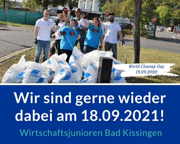 World Cleanup Day: Die Wirtschaftsjunioren Bad Kissingen sammeln mit! (Bayern)