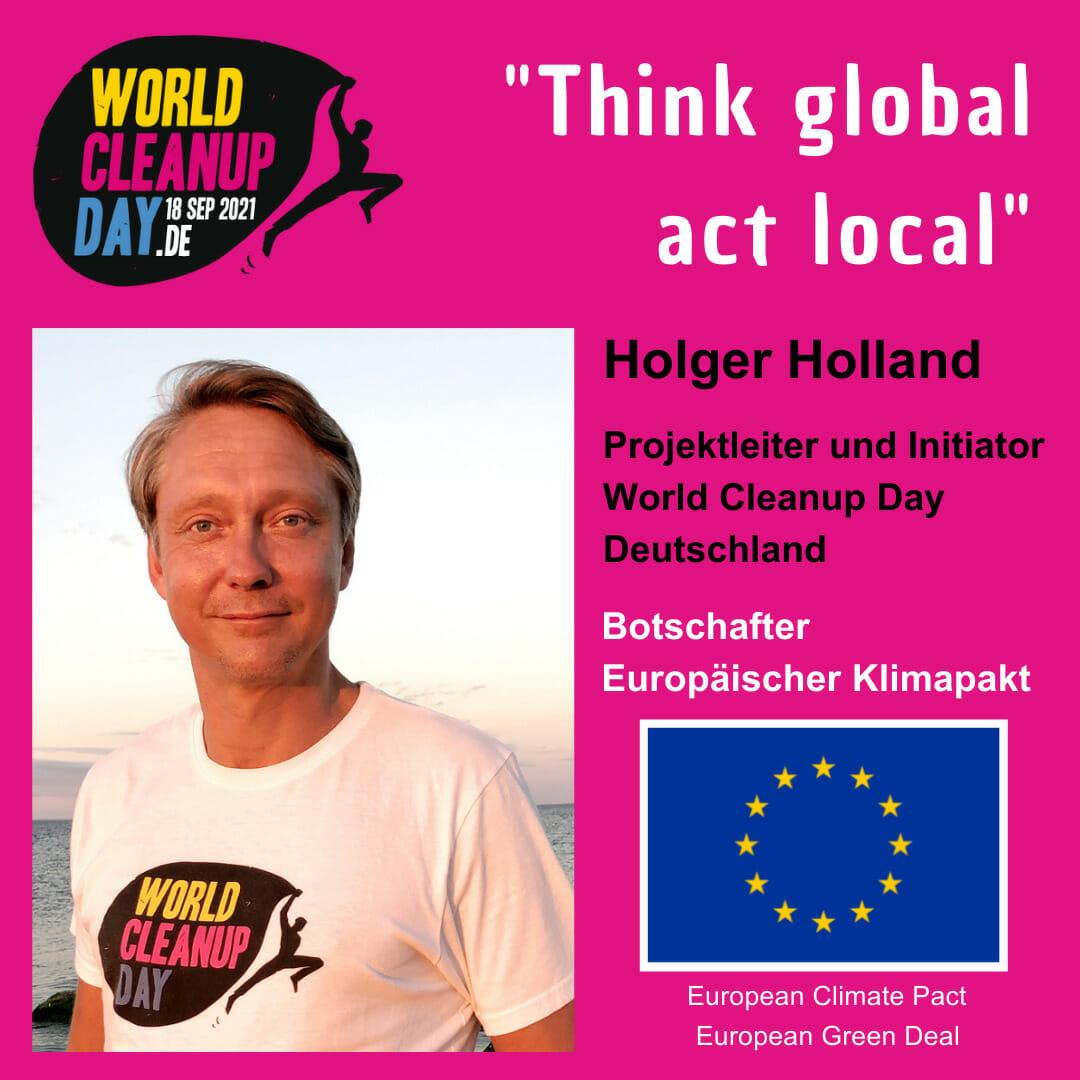 EU Klimapakt Botschafter und Initiator WCD Deutschland Holegr Holland