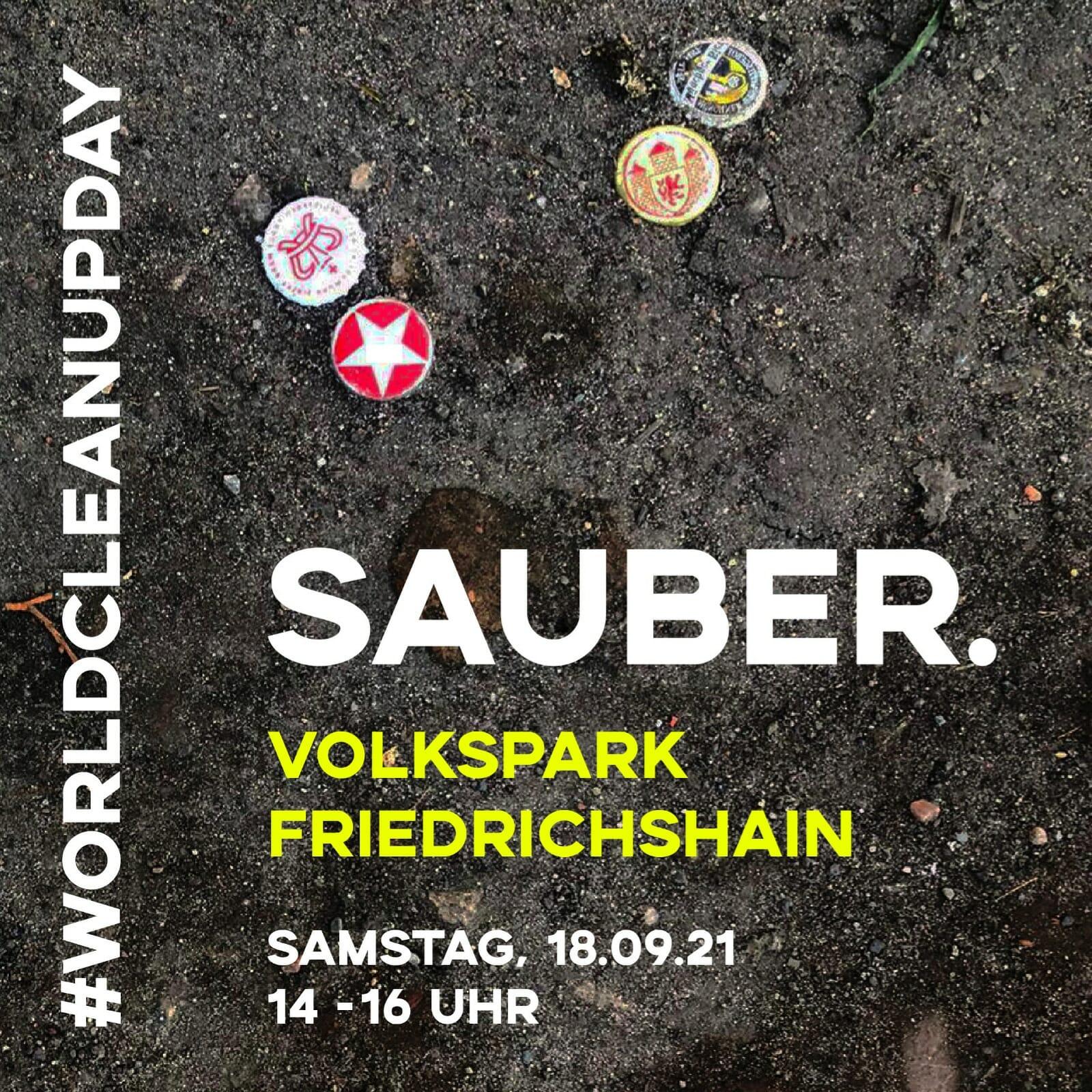 CleanUp   sauber.Volkspark Friedrichshain (Berlin)