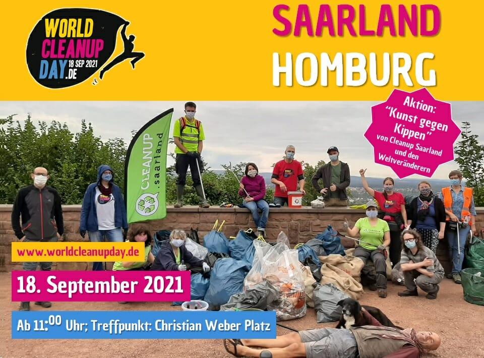 World Cleanup Day in Homburg & Kunst gegen Kippen (Saarland)