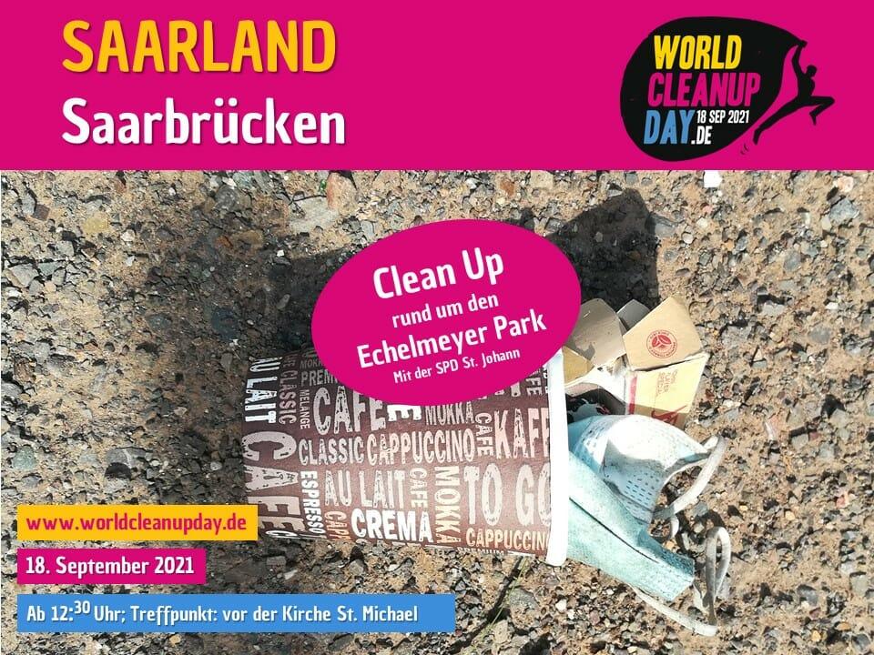 Clean Up rund um den Echelmeyer Park St. Johann-  Saarbrücken - (Saarland)