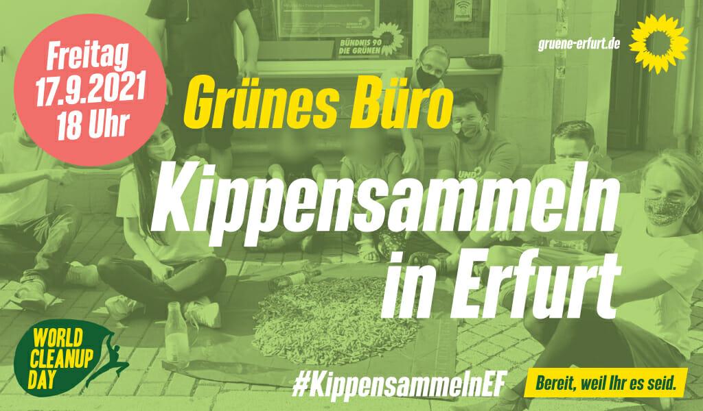 Kippensammeln in Erfurt zum World Cleanup Day (Thüringen)