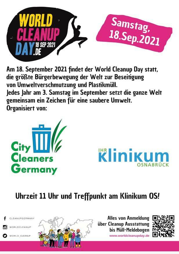 World Cleanup Day Osnabrück (Niedersachsen)