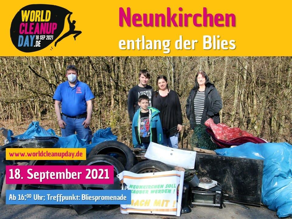 World Cleanup Day entlang der Blies - Neunkirchen - (Saarland)