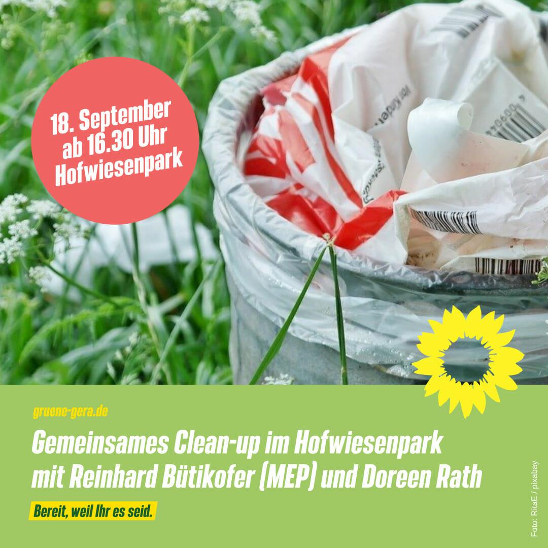 Grüne Gespräche zum World Cleanup Day, Gera ( Thüringen)