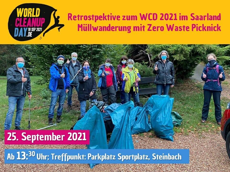 Müllwanderung als Retrospektive zum World Cleanup Day 2021 im Saarland