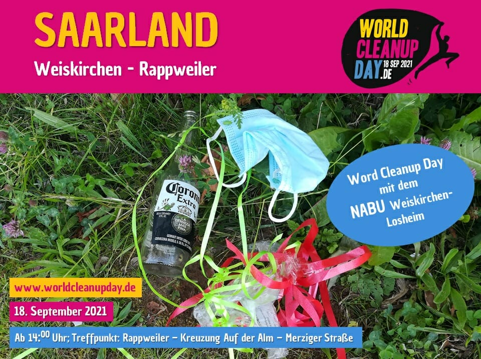 World Cleanup Day in Weiskirchen - Rappweiler - (Saarland)
