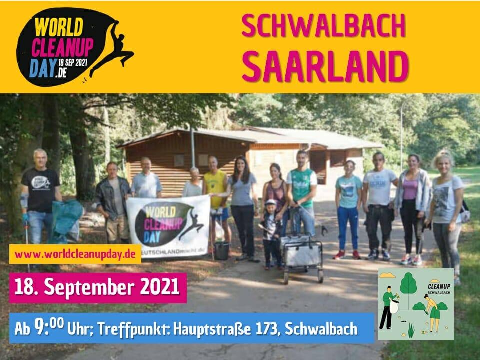 Müll sammeln in Schwalbach - (Saarland)