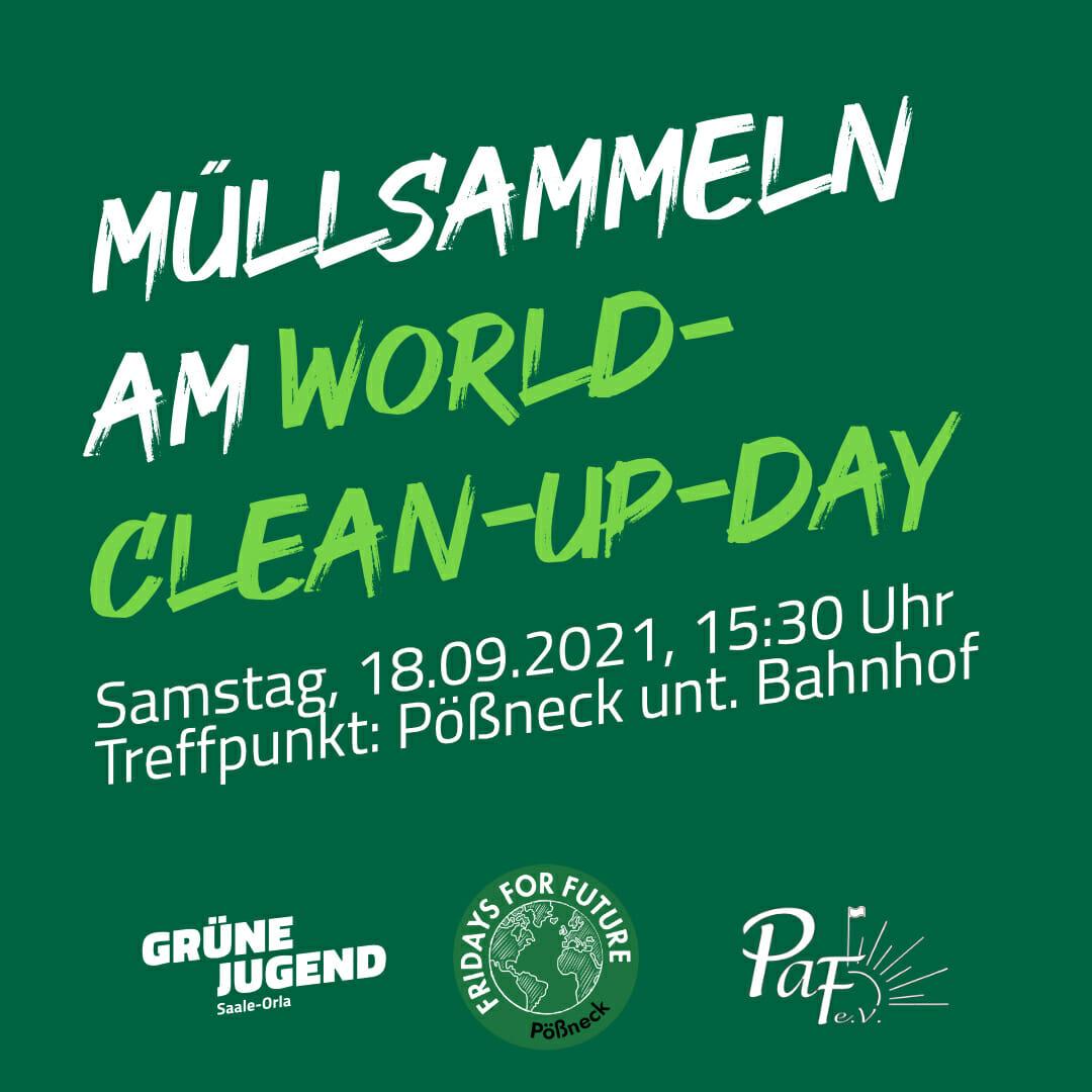 Müllsammeln zum World Cleanup Day (Thüringen)